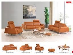 Living Room Furniture Ct 531 Leather Modern 3 Pcs Sets Living Room Furniture