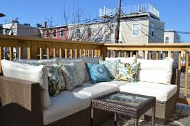 small balcony furniture. Varnished Wood Spindle Balcony Small Furniture