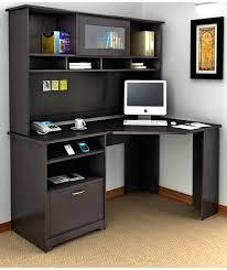 home office corner desk ideas. Inspiring Corner Office Desk Ideas Using Black Oak Wood Computer In L Shape With Hutch And Storage Inovative Modern Home S