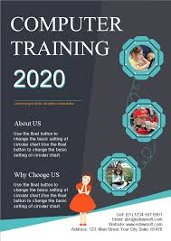 Basic Flyer Template Computer Training School Flyer Free Computer Training