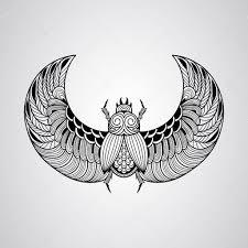 скарабей тату жук скарабея стиль татуировки векторное