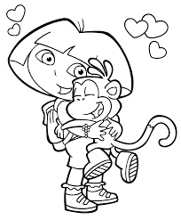 Dora The Explorer Coloring Page Kiddo