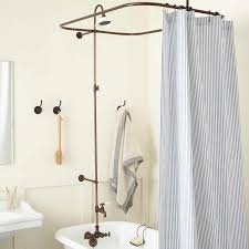 captivating clawfoot tub to shower conversion kits signature hardware at bathtub