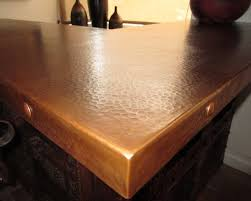 natural patina on hammered copper countertop american southwest home bar