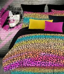 ... Accessories: Ravishing Total Fab Rainbow Leopard And Zebra Print  Comforter Bedding Sets Cheetah Animal Bedroom ...