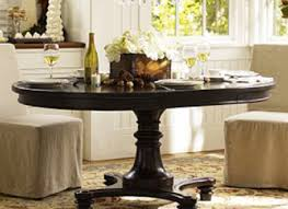 dining table montego pedestal dining table pottery barn