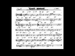 Round Midnight Chart Round Midnight Play Along Backing Track C Key Score