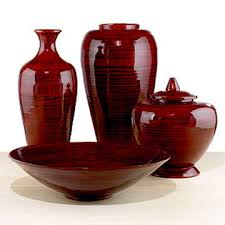 Small Picture Group 4 items spun red ox blood bamboo vase bowl jar Global Sources