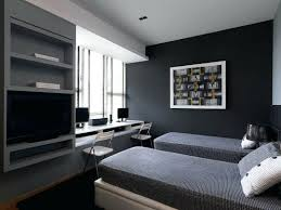 bedroom with office. Office Wall Painting M Bedroom Combo Ideas Light Brown Mat Purple Painted Wooden Bookshelves White With