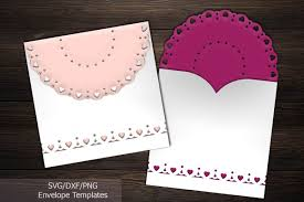 Invitation Envelope Template Rustic Lace Wedding Invitation Envelope Laser Cut Template