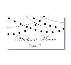 Seating Place Cards Template Name Cards Wedding Template Fresh Name