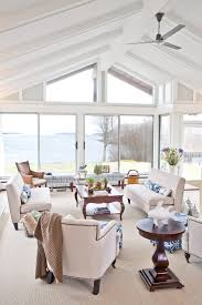 beach house lighting ideas. Cathedral Ceiling Lighting Ideas Family Room Traditional With Beach House Bench Carpet. Image By: Celia Bedilia G