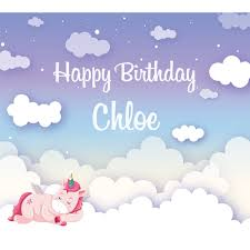 happy birthday customized banners magical unicorn cloud pastel customized banner 1