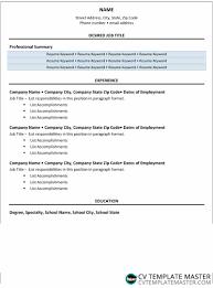 Job Accomplishments List Keyword Cv Template Cv Template Master
