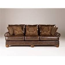 furniture design sofa. ashley furniture signature design - chaling sofa with 5 accent pillows traditional and weatherworn style