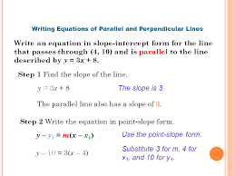 parallel perpendicular lines ppt 17 writing equations