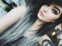 black to gray ombré