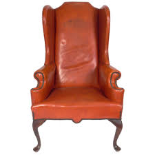 Leather Wingback Chair For Sale Cognac Leather Wingback Chair At 1stdibs