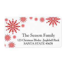Snowflake Holiday Address Label