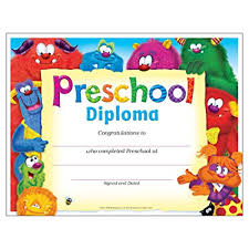 Prek Diploma Amazon Com Trend Enterprises Inc Preschool Diploma Furry Friends