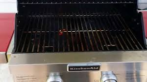 the smallest footprint kitchenaid propane 2 burner grill