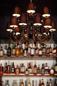 restaurant chandelier lighting design over the bar of brixton san francisco funky chandeliers unique modern paper french crystal empire
