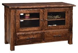 hand hewn flat wall tv stand