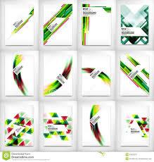 dl layouts flyers brochure design templates set layouts stock vector