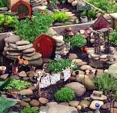 fairy garden or fairy village to be
