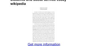 essay on students and social services essay writing service reviews