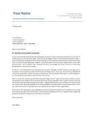 Writing A Cover Letter Australia Business Development Manager Well