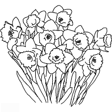 Spring Flower Coloring Pages Printable With Kids Under 7 Flowers