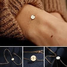 17KM <b>Simple Exquisite Female</b> Accessories Metal Letter Bangle ...