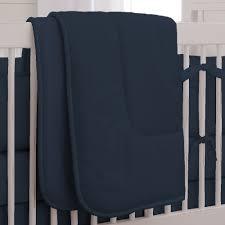 navy solid color crib bedding