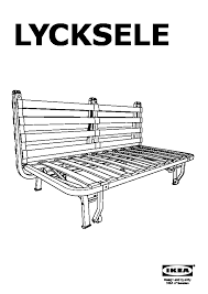lycksele two seat sofa bed frame