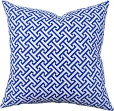 blue and white pillows. Contemporary White Blue And White Pillow Decorative Greek Key By ModernTouchDesigns 2800  Love The Pattern Colour And White Pillows N