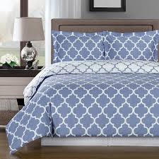 meridian periwinkle reversible cotton comforter set 300 thread count