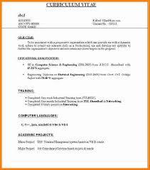 Resume Format For Freshers Mcom Resume Corner