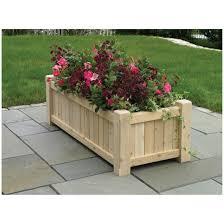 Decorative Planter Boxes Garden Decor Top Notch Garden Decoration With Rectangular Outdoor 7