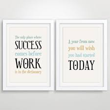 inspirational office decor. Large Office Decor Typography Posters, Inspirational Quote