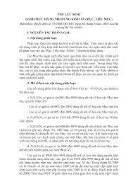 PHỤ LỤC SỐ 03 DANH MỤC MÃ SỐ NỘI DUNG KINH TẾ (MỤC ...