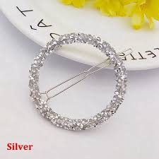 1 Pcs <b>Fashion Crystal Rhinestones Hairpin</b> Star Triangle Round ...