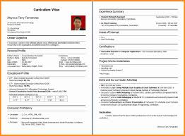 How To Make Cv Resume For Freshers Raw Sample A Fresher Graduate