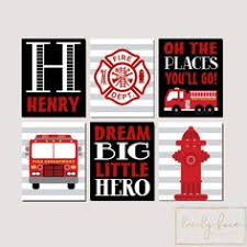Fire Truck Wall Art, Fire Truck Decor <b>Canvas</b> or <b>Prints Fireman</b> Fire ...
