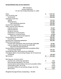 income statement in good form multiple step income statement best template collection