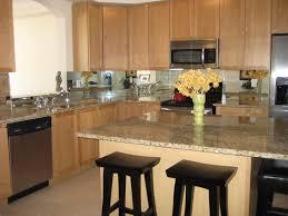 Mirror Tile Backsplash Kitchen Divine Unfinished Hardwood Kitchen Cabinet Set With Cool Marble