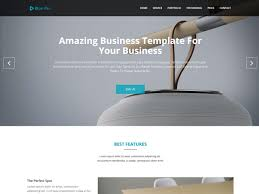 Business Portfolio Template Blue Pro Business One Page Html Template Themefisher