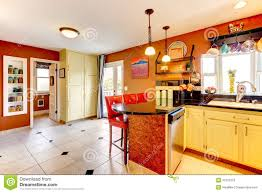 Cozy Kitchen Warm Colors Cozy Kitchen Room Stock Photo Image 37221610