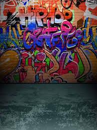 kate teenager graffiti wall grey brick
