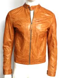 sam mens gents tan fitted casual retro classic biker rock nappa leather jacket
